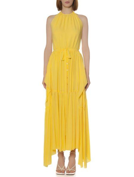 BACKLESS ASYMMETRIC DRESS